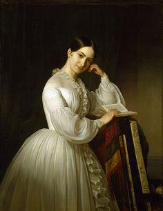 1841 Emil Bærentzen - Portrait of the actress Johanne Luise Heiberg