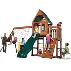 Swing-N-Slide Playsets, Knightsbridge Wood Complete Play Set, PB 9241-1 at The Home Depot - Mobile