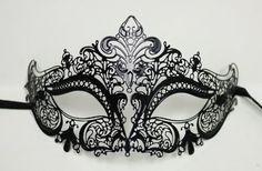 Halloween Bendable Laser Cut Black Mask $33.95