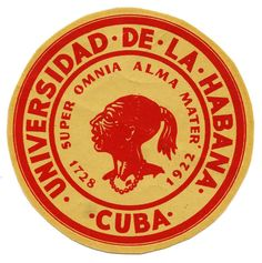 1950s Universidad de La Habana Decal