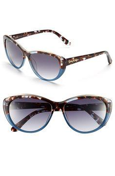 Women's Lilly Pulitzer 'Marianne' Cat Eye Sunglasses - Gradient Blue Tortoise