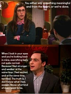 I know what kind of man I want to be. (Amy, Sheldon, The Big Bang Theory) Big Bang Theory, The Big Theory, What Kind Of Man, Tv Shows Funny, Best Tv, Movie Quotes, Bigbang, Movies And Tv Shows, Memes