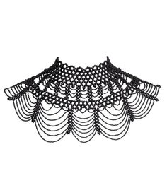 Looking for that dramatic piece for the holiday season? This beaded necklace from Richter is it! Just amazing detail and so unique! Would be perfect over a great tee too! Beaded Jewelry Patterns, Beading Patterns, Col Crochet, M Necklace, Beadwork Designs, Costume Patterns, Crochet Tablecloth, Neck Piece, Bead Jewellery