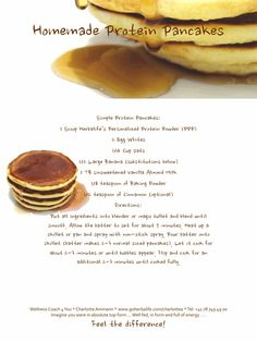Protein pancakes - I'm definitely going to be experimenting with this recipe!!  I <3 Herbalife!!