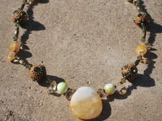 Citrine necklace by fhosmer on Etsy,