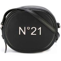 N°21 Crossbody Bag ($275) ❤ liked on Polyvore featuring bags, handbags, shoulder bags, black, cross body, crossbody shoulder bags, crossbody purses, round purse and round handbags