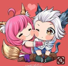 Nana x Harith . Looks like Harley and Cyclops got a new challenger. Kawaii Chibi, Cute Chibi, Anime Chibi, Bang Bang, Couple Wallpaper, Bear Wallpaper, Mobiles, Miya Mobile Legends, Alucard Mobile Legends