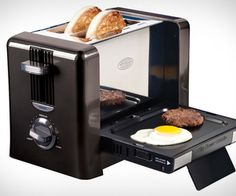 Toaster and griddle. This would be amazing for breakfast in the dorms.
