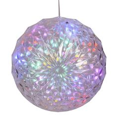 "Vickerman 25748 - 30Lt X 6"" LED Multi Crystal Ball Outdoor (X106600) Hanging Christmas Light Sphere by Vickerman. $20.70. 6"" Multi-Color Crystal Ball Hanging Yard Art LED Vickerman Christmas Light"
