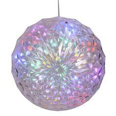 "Vickerman 25748 - 30Lt X 6"" LED Multi Crystal Ball Outdoor (X106600) Hanging Christmas Light Sphere by Vickerman. $20.70. 6"" Multi-Color Crystal Ball Hanging Yard Art LED Vickerman Christmas Light"