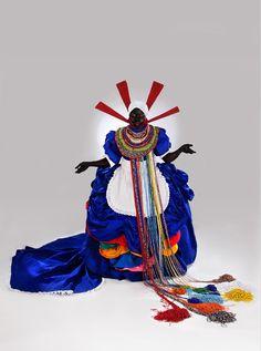 Mary Sibande, Kagiso Pat Mautloa, Tracey Rose, Various Artists & Lawrence Lemaoana at Museu de Arte Contemporanea de Niteroi (MAC) in March - Contemporary visual art in South Africa African American Art, African Women, African Life, African Culture, African Style, South Africa Art, Statues, Afrique Art, Art Perle