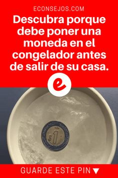 Guardar alimentos | Descubra porque debe poner una moneda en el congelador antes de salir de su casa. | Descubra porque debe poner una moneda en el congelador antes de salir de su casa.