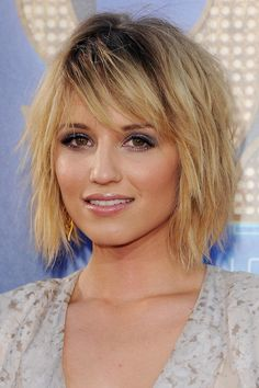 """For a Square Face - The Best Short Cut for Every Face Shape - Southernliving. """"A short shag is really is great for a square face. Very distinct layers not only soften the jawline put also put the focus on your softer features,"""" Explains Duck about the look that is making a major comeback in 2017. Georgia peach, Dianna Agron sports 2017's hottest new haircut, the shag."""