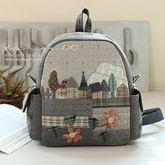 Japanese Patchwork, Japanese Bag, Patchwork Bags, Quilted Bag, House Quilt Patterns, Ipad Bag, Back Bag, Craft Bags, Fabric Bags