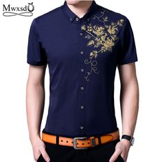 4fb08328935 Mwxsd Brand New Mens Hawaiian Shirt Male Casual short Shirts camisa  masculina Printed Beach Shirts Short