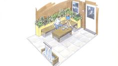 Hertfordshire Garden Designer - The Small Courtyard Garden - Garden Design in Hemel Hempstead, Hertfordshire - UK Garden Designers, Builders and Landscapers for London, Essex and Hertfordshire and rest of UK