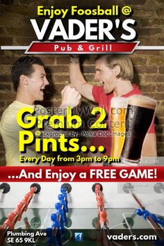 Create amazing flyers for your bar by customizing our easy to use templates. Add your content and be done in minutes. Free downloads. High quality prints.