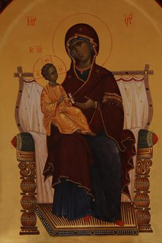 Byzantine Icons, Religious Art, God, Painting, Virgin Mary, Religion, Child, Contemporary, Dios
