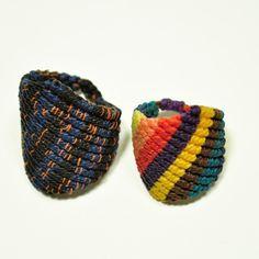 anelli macrame di AMiRAjewelry su Etsy