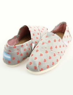 Comfy Gray Hearts Pattern Women's Loafers - Milanoo.com