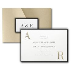 Corner Initials Layered Pocket Wedding Invitation Icon Online Fonts, Pocket Wedding Invitations, Lettering Styles, Matching Cards, Response Cards, Foil Stamping, White Envelopes, Wedding Cards, Color Schemes