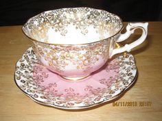 Royal Albert Cascade series PINK /Gold FIligree Avon