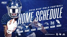 The Official Athletics Site for Rice University. Get tickets to Rice Owls athletic events including Basketball, Football, and Baseball. Conference Usa, Schedule Design, Rice University, Athletic Events, Sports Graphic Design, Basketball Design, Game Tickets, Football Highlight, Sports Graphics