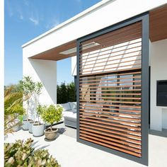 Inspirationsprojekte exile, Sabrina Schilling - Wintergarten Ideen, Inspirationsprojekte exile, Sabrina Schilling / Even though old inside notion, the particular pergola has become going through a modern rebirth most of these days. Patio Pergola, Pergola Plans, Backyard Patio, Pergola Kits, Cheap Pergola, Outdoor Rooms, Outdoor Living, Outdoor Decor, Outdoor Shutters