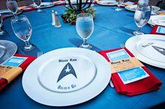 """""""House Kirk"""" Star Trek Wedding Dinner Charger"""