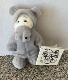 "GANZ Collectible Wee Bear Village Potamus Hippo Costume Plush 5"" Mini Teddy Bear #Ganz #AllOccasion"