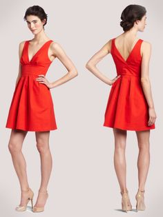 Poppy Red Cocktail Dress