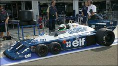 The infamous Tyrrell P34 '6 wheeler'