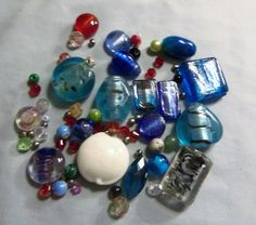 Blue Grab bag Beads Glass beads Jewelry by RosariesbyEsther
