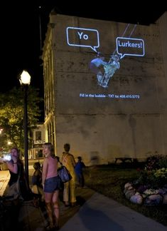 Paul Notzold Interactive Digital Projections. The Wooster Project | Wooster Collective