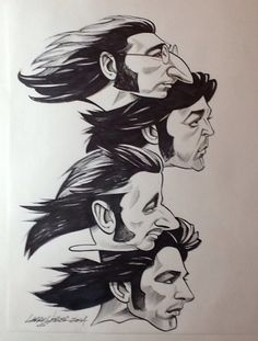 The Beatles caricature by Larry Weber