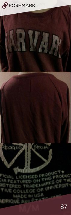 Harvard Sweat Shirt Maroon Harvard Sweatshirt (Does Have Small  Pilings &Faded Lettering)This Item Is From A Smoking Home. Thank You For Visiting My Closet. Tops Sweatshirts & Hoodies