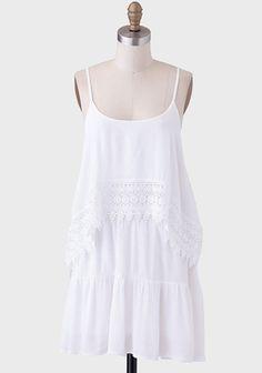 Santa Monica Tiered Crochet Detail Dress