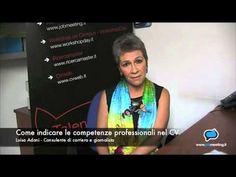Come indicare le competenze professionali nel CV (2) #Video di Jobmeeting con Luisa Adani, consulente di carriera #lavoro