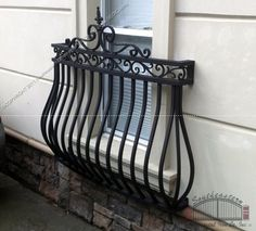 wrought iron faux balcony - Google Search
