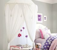 Boho Playroom Canopy...love this for girl's rooms:)