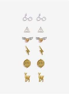 The finishing touch to a magical look | Harry Potter Gold And Silver Earring Set