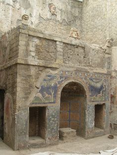 Nymphaeum at the House of the Neptune Mosaic, Herculaneum by John S Y Lee, via Flickr