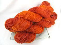 Hand Dyed Yarn Pebble Worsted Superwash Merino  by BlackTrillium, $19.50