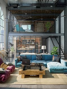 32 Stylish Interiors All Men Will Love &; interiors loft Love Me 32 Stylish Interiors All Men Will Love &; interiors loft Love Me Manja SirHoover Home sweet Home 32 […] Room apartment men Loft Estilo Industrial, Industrial House, Industrial Loft Apartment, Industrial Style, Modern Loft Apartment, Vintage Industrial Decor, Industrial Interiors, Loft Design, Design Case