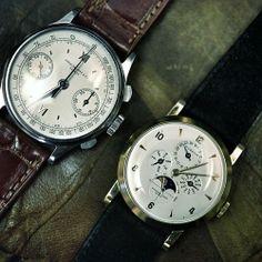 Vintage Patek Philippe chronograph in steel.
