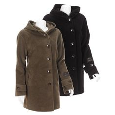 Wool-Angora Blend Walker Coat -Plus Size