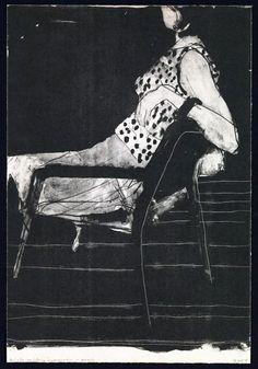 Richard Diebenkorn - Untitled (Woman on a chair, dotted dress)