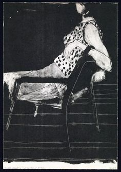 Richard Diebenkorn - Untitled (Woman on a chair, dotted dress)