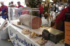 Huge Salami In Tuscan Market
