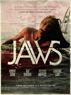 I have never seen this Jaws poster before.  It's terrifying!